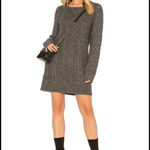 Rails Jesse Cable Knit Cashmere Blend Dress